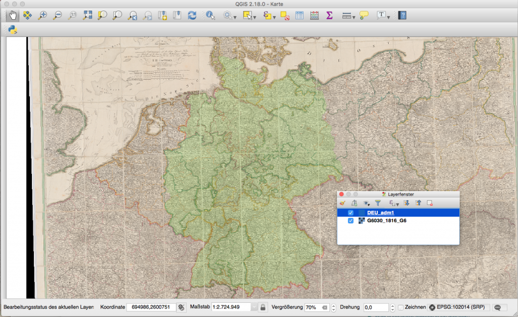 Overlay Raster und Shapefile in QGIS