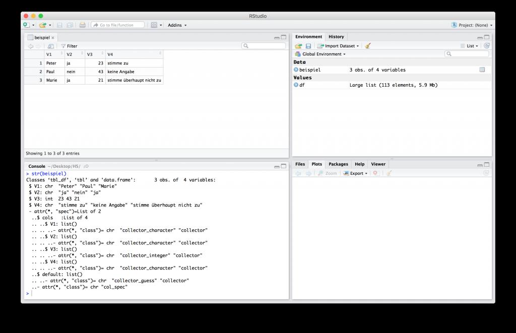 R-beispiel GUI (RStudio)