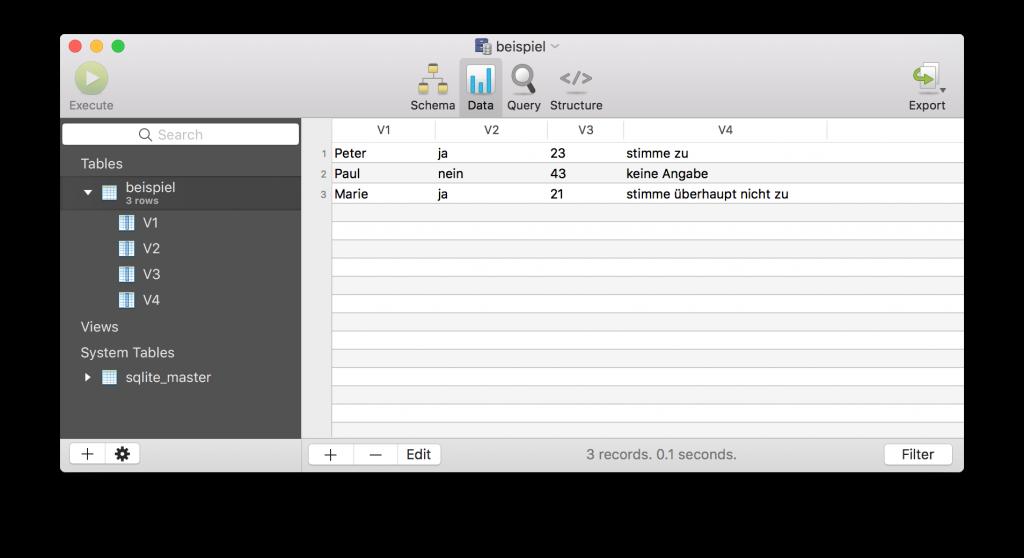 SQLite GUI